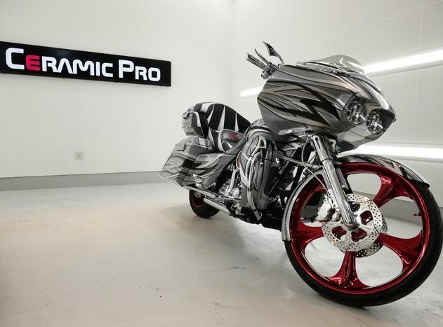 バイクにもセラミックプロは圧倒的な性能を発揮。